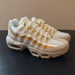 NEW Nike Air Max 95 White Gold